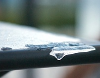 Floating Snow and Icicles - Photos by Abbey