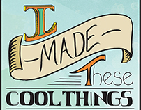 """I Made These"" hand-lettered sign"