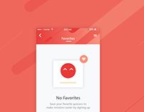 Exam App Redesign - Favorite Page