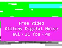 Free Video | Glitchy Digital Noise | 4K