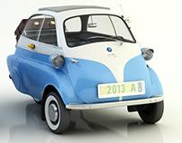 BMW ISETTA 300. Modelagem e ilustrações 3D