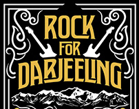 Rock for Darjeeling Tshirt artwork design