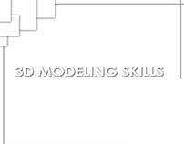 3D Modeling skills
