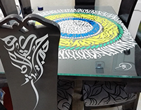My calligraphy table