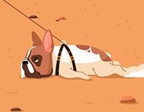 Walking My Dog - Animated Gif