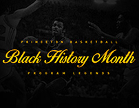 Princeton Men's Basketball - #BHM Campaign