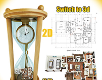 Switch to 3d floor plan