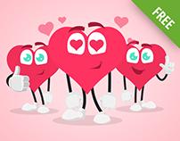 Cartoon Heart Vector Set