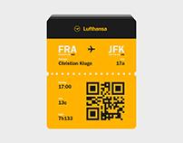 Daily UI No. 24 | Boarding Pass