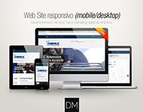 Web Site responsivo (mobile/desktop) | Onimax