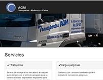 Transportes AGM. Diseño y mantenimiento web.