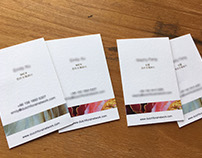 DFN Business Cards and Promotion Pamphlet