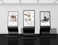 Modern Expo Display Stand Poster Mockup Free