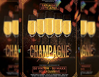 Champagne Nights Flyer - Club A5 Template