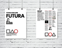 Tipography poster: Futura Homage
