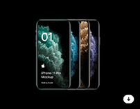 Freebie iPhone 11 Pro Mockup - PSD