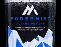 Modernist Gin - label design
