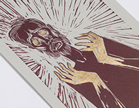 King Lear Linocut Illustrations