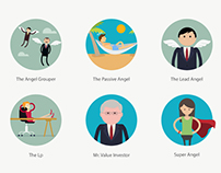 Cartoony Icons for StartupAngels - Icon Project 5
