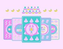 HAPPY SUMMER : baby icon