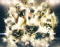 2015 NFA Goldbacks Football HS Season Schedule Poster