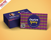 Free PSD : Creative Agency Business Card Template PSD
