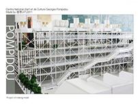 the model of pompidou art center