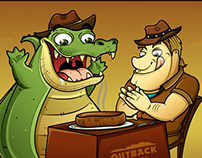 Outback´s Cancun Mascots