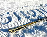 Calligraphy on the snow