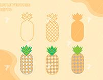 Pineapple Flat Design