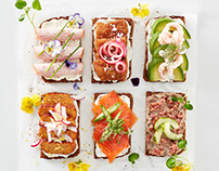 Nordic open sandwiches