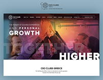 Coprorate Website Design for CEO Clubs Greece