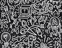 Multi Awesome Studio x Keith Haring / Mural