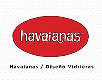 Havaianas / Diseño Vidrieras