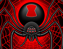 """Mat Beast """"Black Widow"""" Rash Guard illustration"""