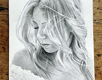 Graphite drawing - Pauliina