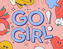 GO GIRL! for Sticker.Place