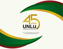 Identidad visual para el 45 Aniversario UNLu