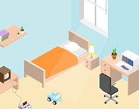 YOUR ROOM Isometric Design