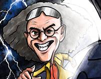 Gemini Vector + Watercolor caricature