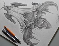 criação de arte para tatuagem