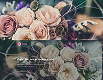 Landing page for florist UA