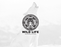 wild life (hand made art and vector edit ) logo design