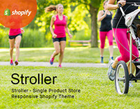 Stroller Single Product Store Responsive Shopify Theme
