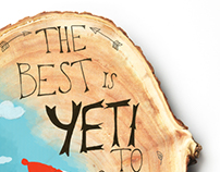 Yeti on Wood