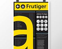 Frutiger Specimen Poster/Book