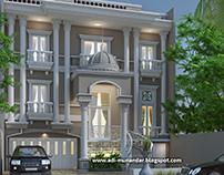 Arsitektur rumah Klasik di Kebun Jeruk Jakarta.