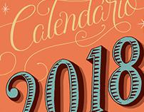 Calendário 2018 TAG Livros.