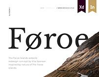 The Faroe Islands Website Concept