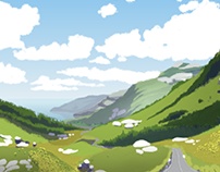Background for animated movie